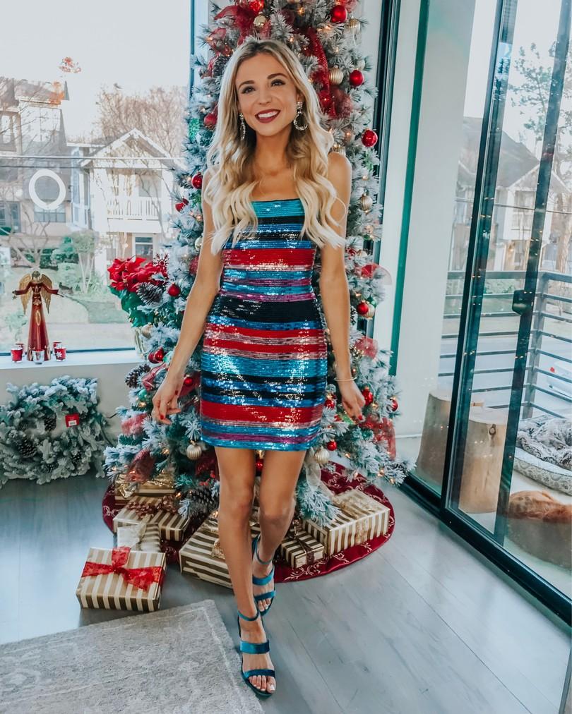 wayf stripe dress