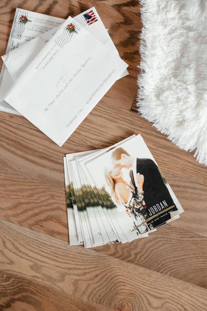 Wedding Planner Dani Austin minted save the dates