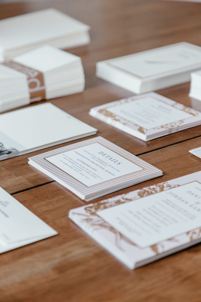dani austin minted wedding invitations kitchen table