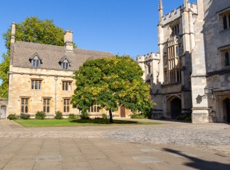 Oxford September 2019 Magdalen College courtyard