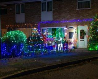 Street Illuminated Christmas decorations