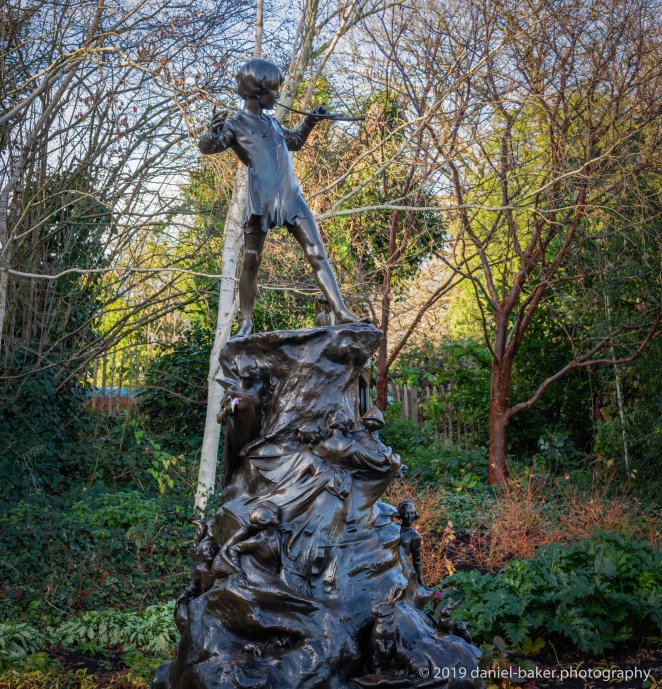 Peter Pan Statue in Hyde Park, London
