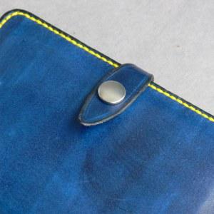 Buchhülle klein blau