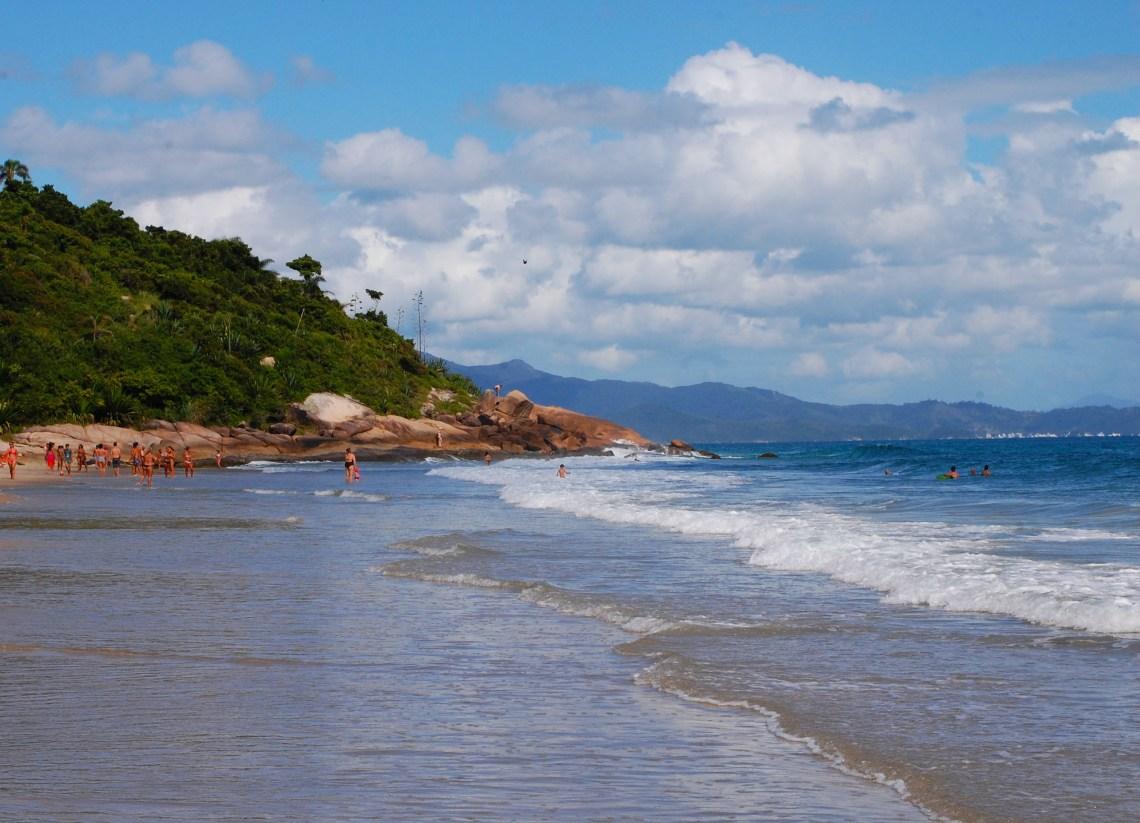 praia Lagoinha, em Florianópolis.