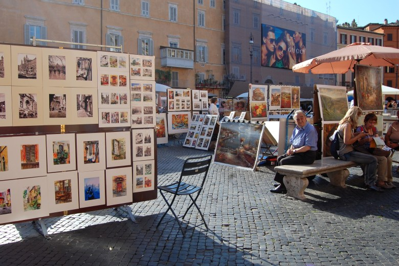 quadros-praça-navona-roma-pontos-turísticos