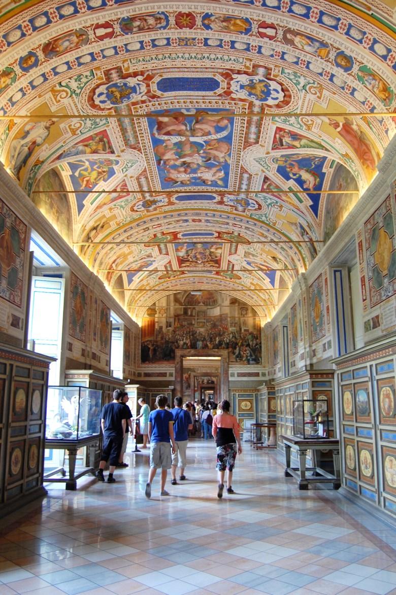 galeria das tapeçarias - museus do vaticano - roma - pontos turísticos