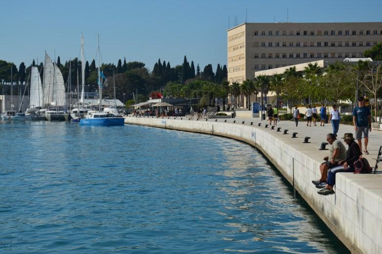 calçadão - riva - split - croácia - turismo