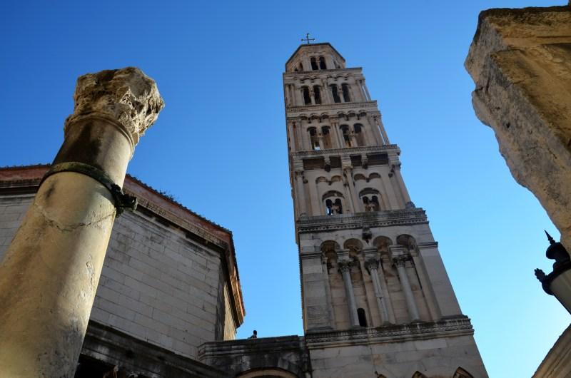 catedral de sao domnio - cidade histórica - split - croácia - dalmácia