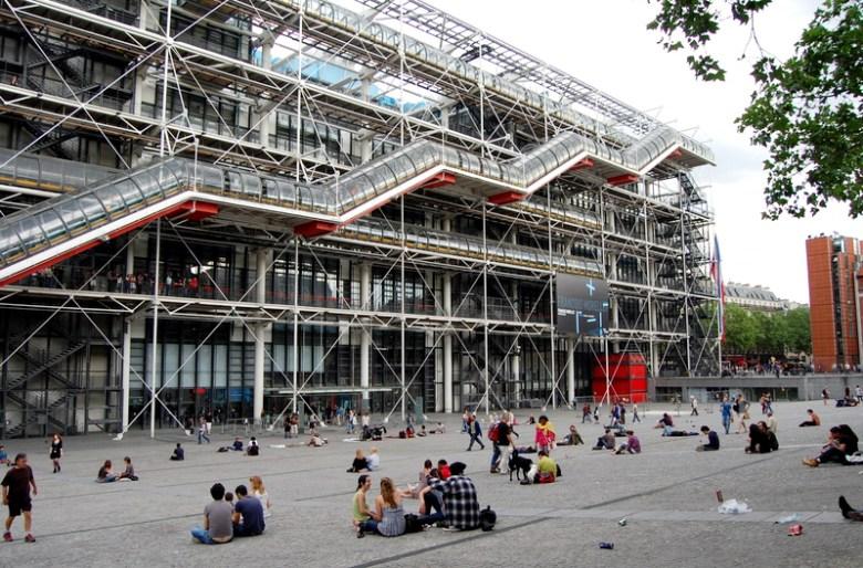 pompidou - paris na primavera - frança - pontos turísticos