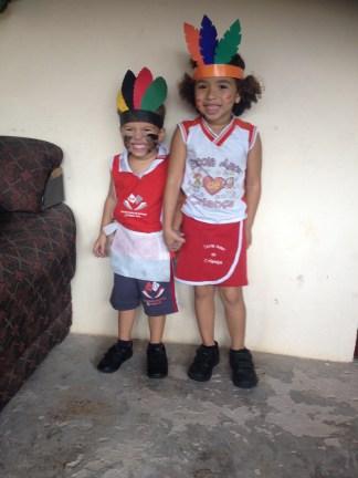 Antonio and his cousin Ana Raquel