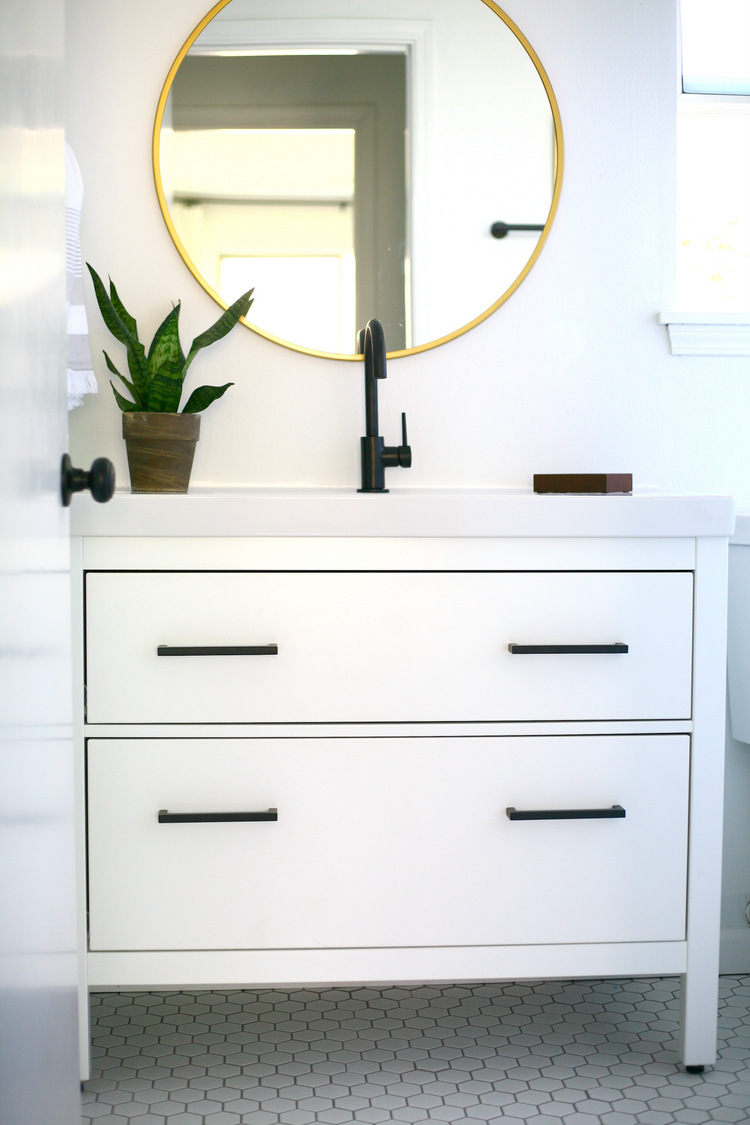 Ikea Bathroom Vanity Units: IKEA Hemnes Sink Cabinet Bathroom Vanity Hack