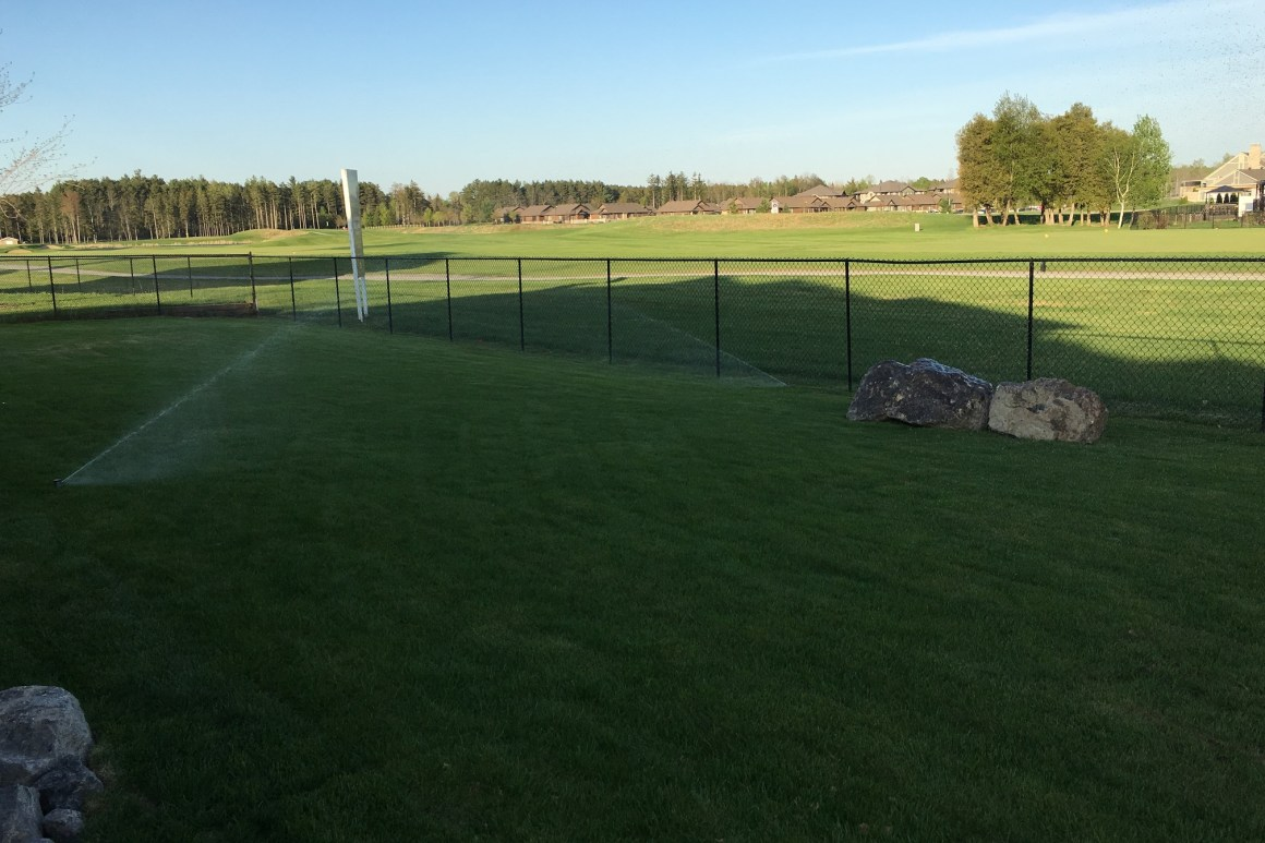 sprinkler system - back yard