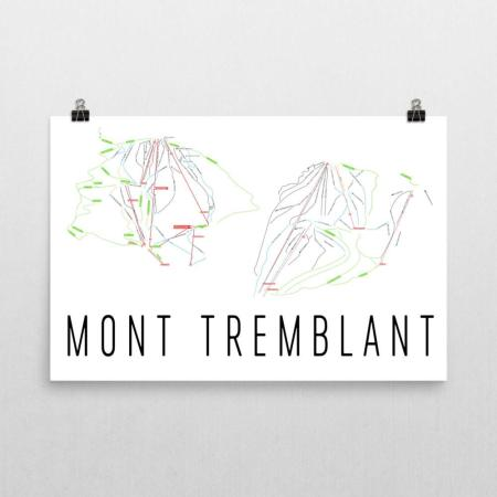 Modern Map Art - Tremblant