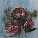 Abstrakte Rosen, eine Bilderserie - Mixed Media Art, artforsale - Aus dem Art Journal zur Bilderserie mit Video Tutorial - Daniela Rogall