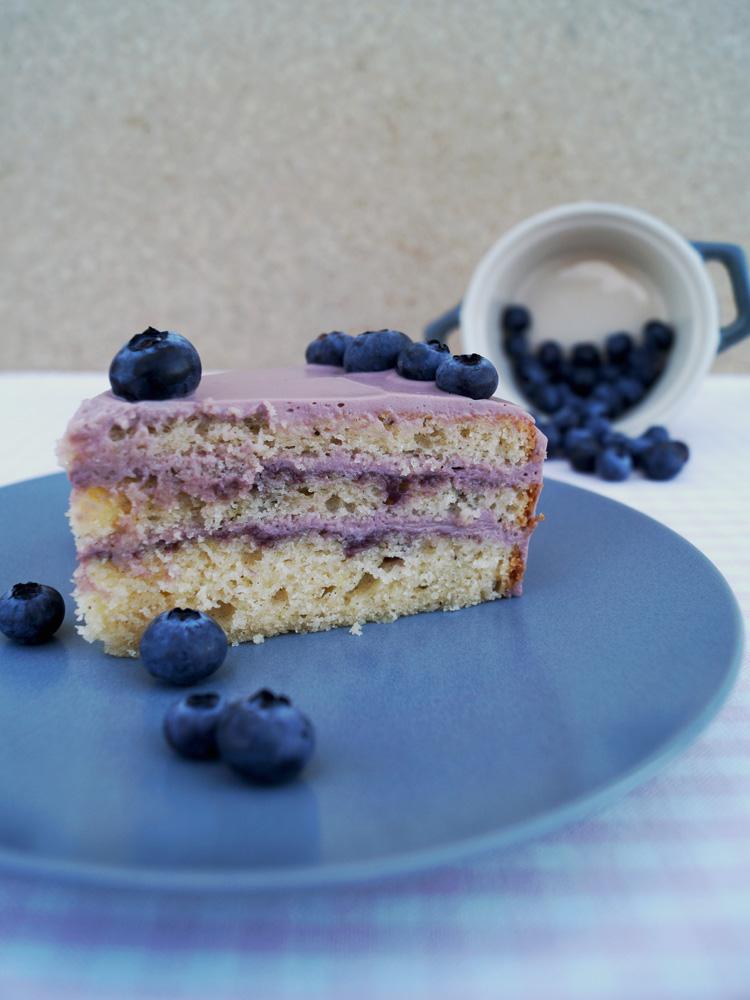 Heidelbeer-Zitronen-Torte
