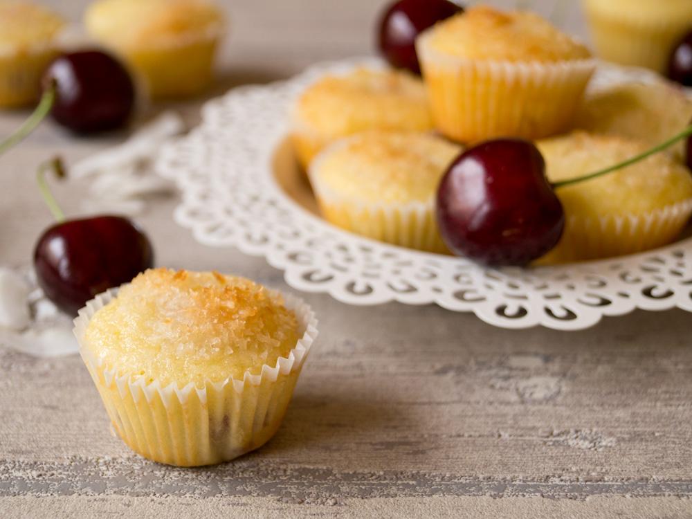 Kirsch-Kokos-Muffins