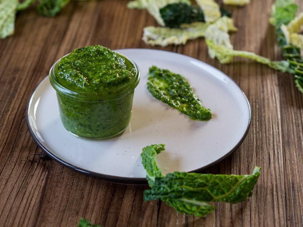 Histaminarmes Wirsing-Pesto