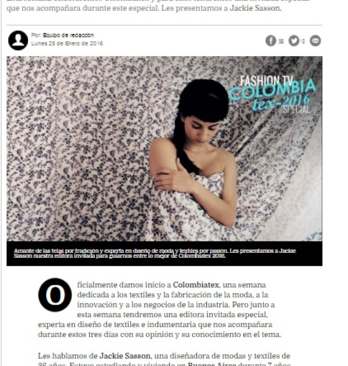 FASHION TV COLOMBIA - FASHIONTV LATINOAMERICA - DANIELASTYLING - BLOG DE MODA - COLOMBIATEX TEXTILES MODA