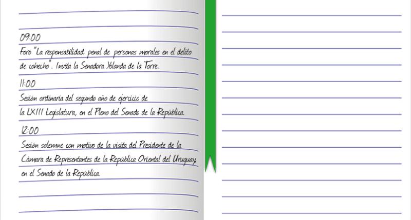 Agenda pública del senador Daniel Ávila Ruiz