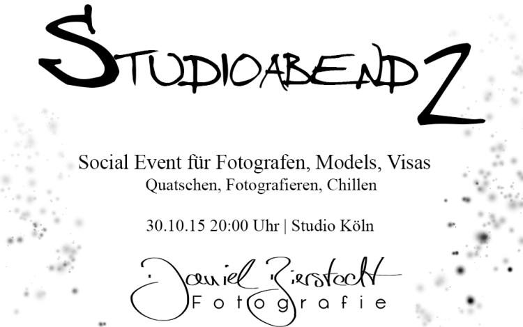 Poster zum zweiten Studioabend