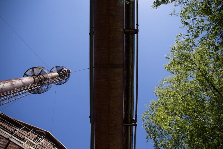 Gebäude und Formen im Landschaftspark Duisburg, fotografiert auf dem Workshop für fotografische Grundlagen