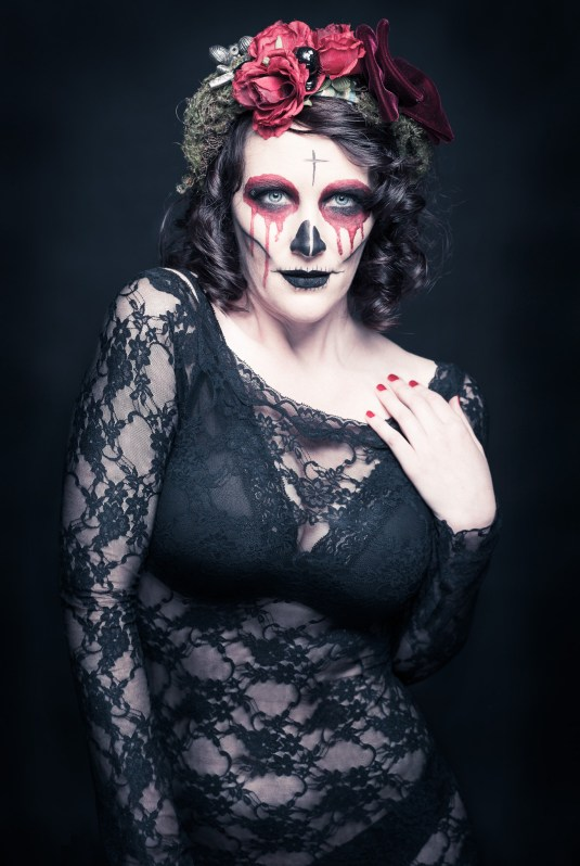 Dia de los muertos at the studio with Vanessa Poschen as the Model and SylVisagistique for MakeUp and Hair