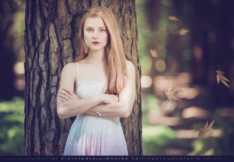 Annika Söllinger im Wald