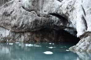 small cave in glacier-1