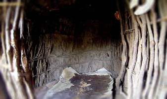Enkang_traditional Maasai hut_childrens room