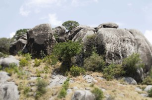 beautiful rocky outcrops erupt throughout the plains