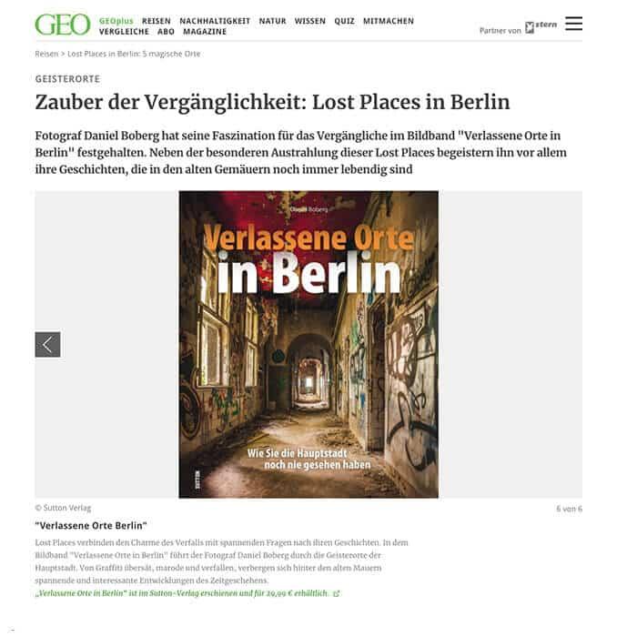GEO - Lost Places in Berlin: 5 magische Orte