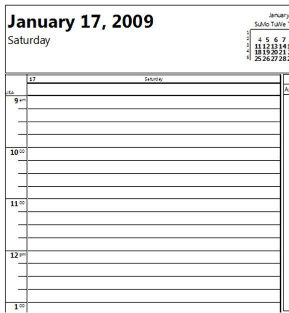 Printable Calendar Increment 15 Minute