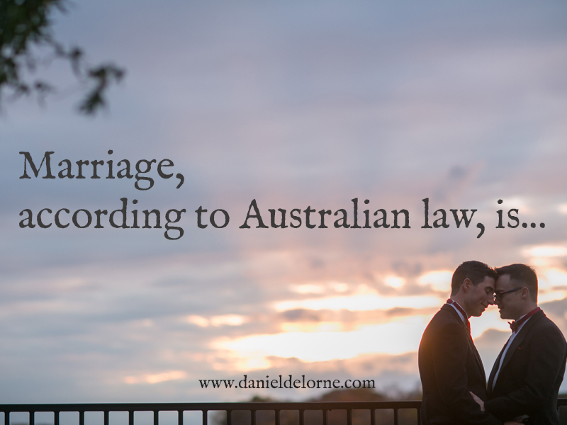 The Australian definition of marriage