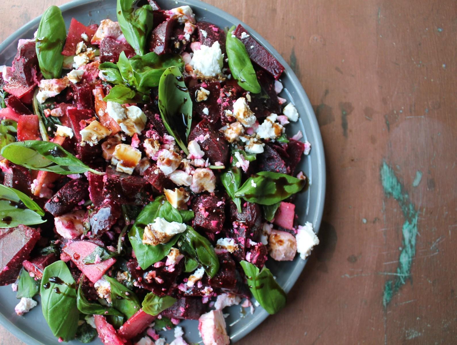 Beetroot, Feta & Basil Salad