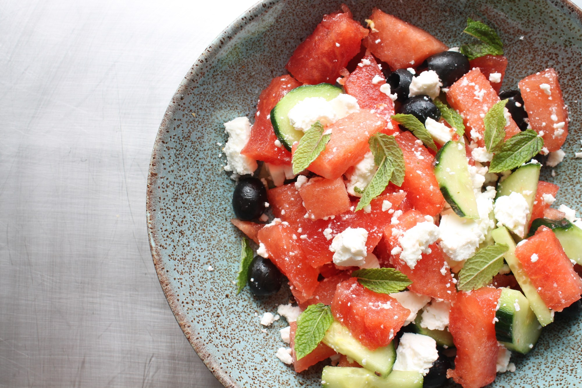 watermelon and feta salad