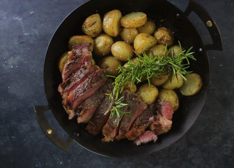 Steak with Rosemary Potatoes
