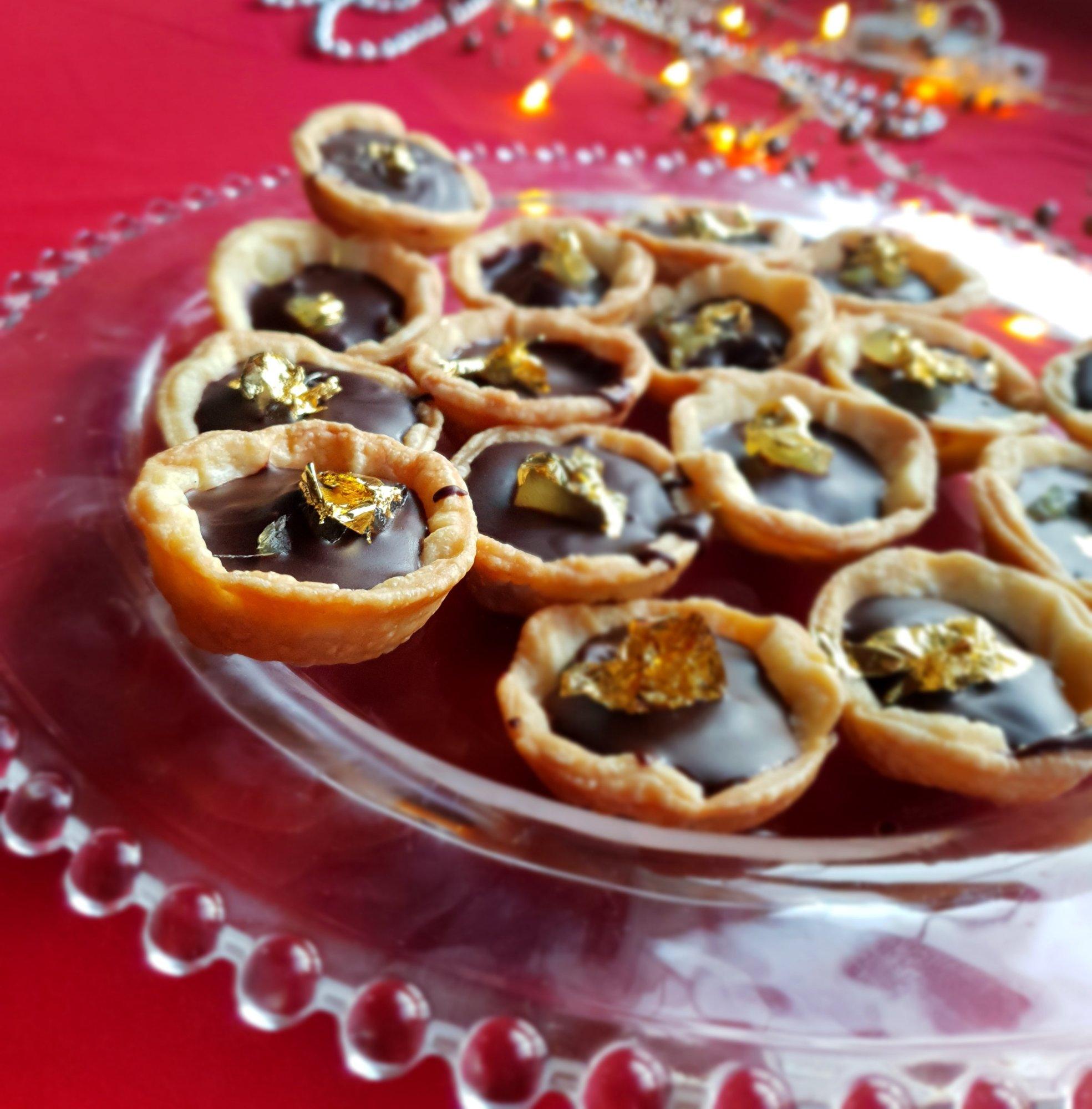 mini chocolate ginger tarts