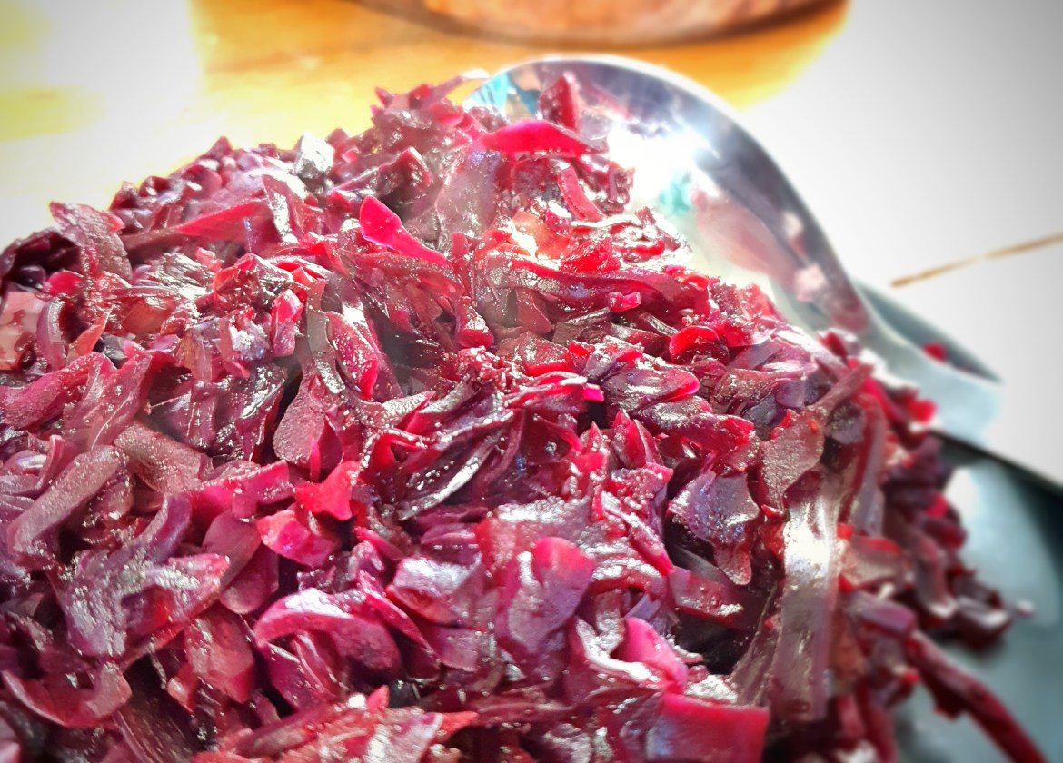 Mulled cider braised red cabbage