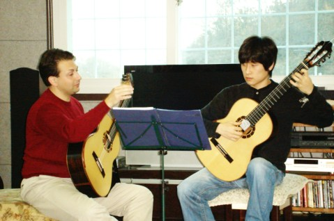 Teaching - During a Masterclass - South Korea in 2008