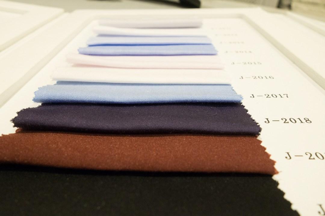 tecido e cores