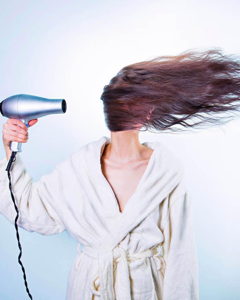 secador-de-cabelo e botox-capilar
