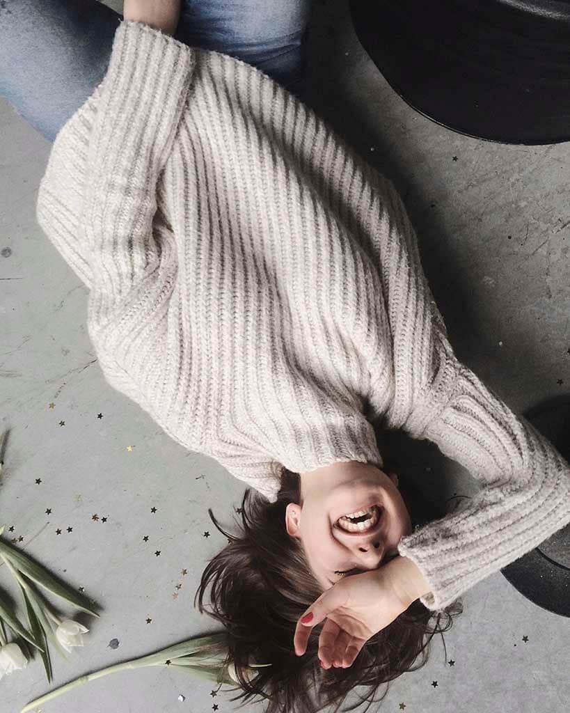 Suéter de poliéster