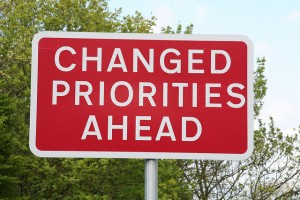 Changed-Priorities-Ahead - Image by Peter Reed