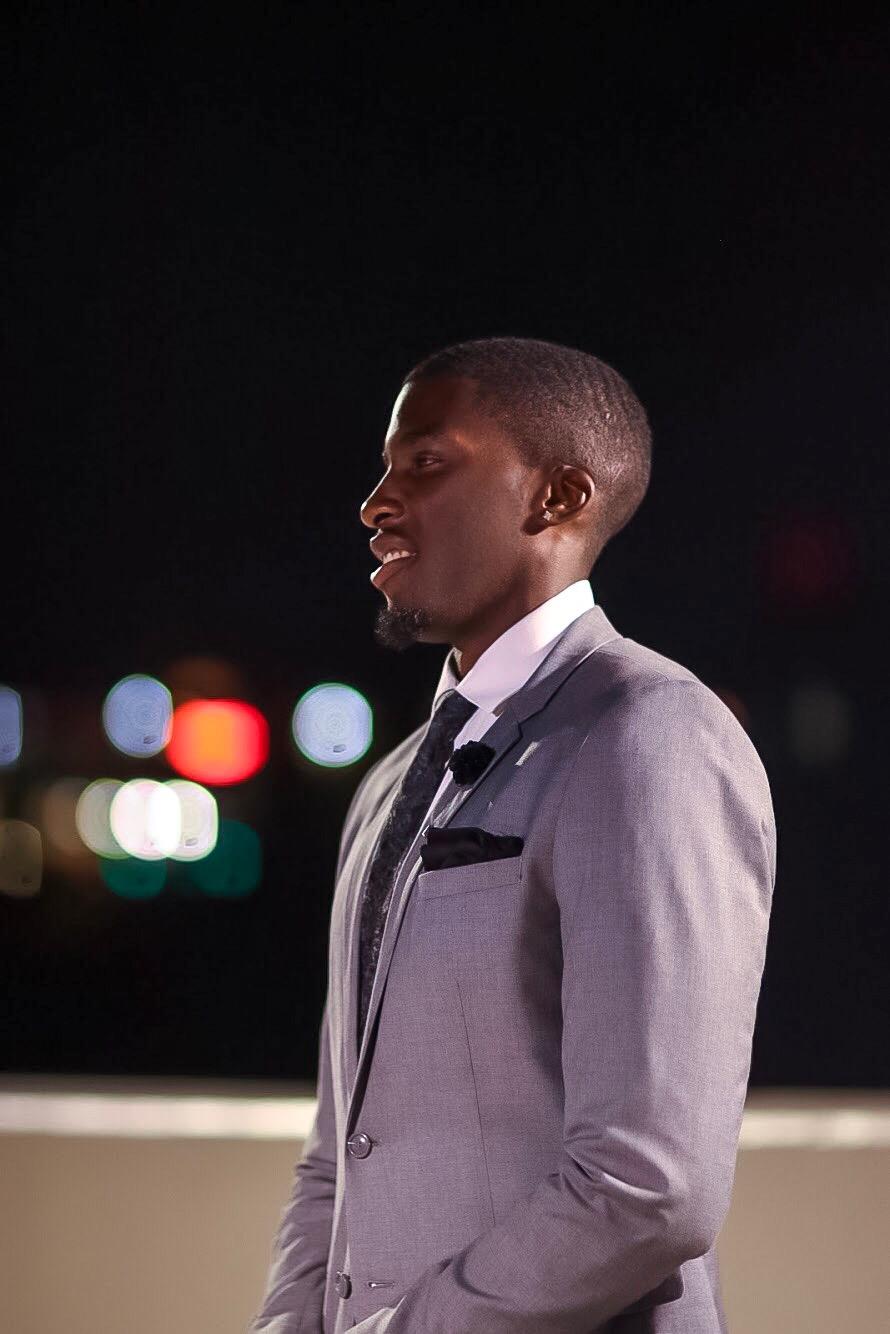Daniel Obiefuna Nwandu, Fondu, Portrait Photography, Nigerian Male Model, Artist, Designer, Commissioner of Reflex Football, Cocktail Attire, Charcoal Blazer, Men's Fashion