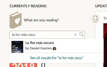 currently reading la flor mas oscura goodreads