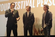 Nicholas Cage, Tye Sheridan, and director David Gordon Green answer questions after the screening of Joe