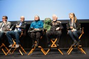 """The Q&A for """"I Am Big Bird: The Caroll Spinney Story"""" (Spinney brought along Oscar The Grouch)"""