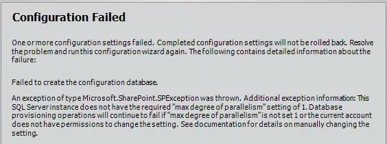 SharePoint 2013 MAXDROP Error