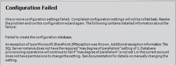 SharePoint 2013 MAXDROP Error