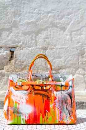 Grandmother Bag Collection #10, 2013 graffiti bag. unique size, unique piece
